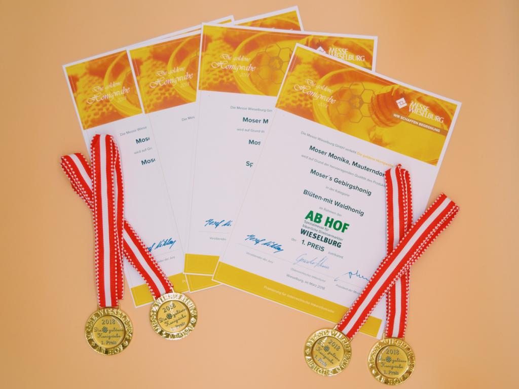 Moser Honig Auszeichnungen